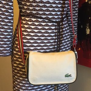 Lacoste Crossbody Shoulder Bag Stripe Strap